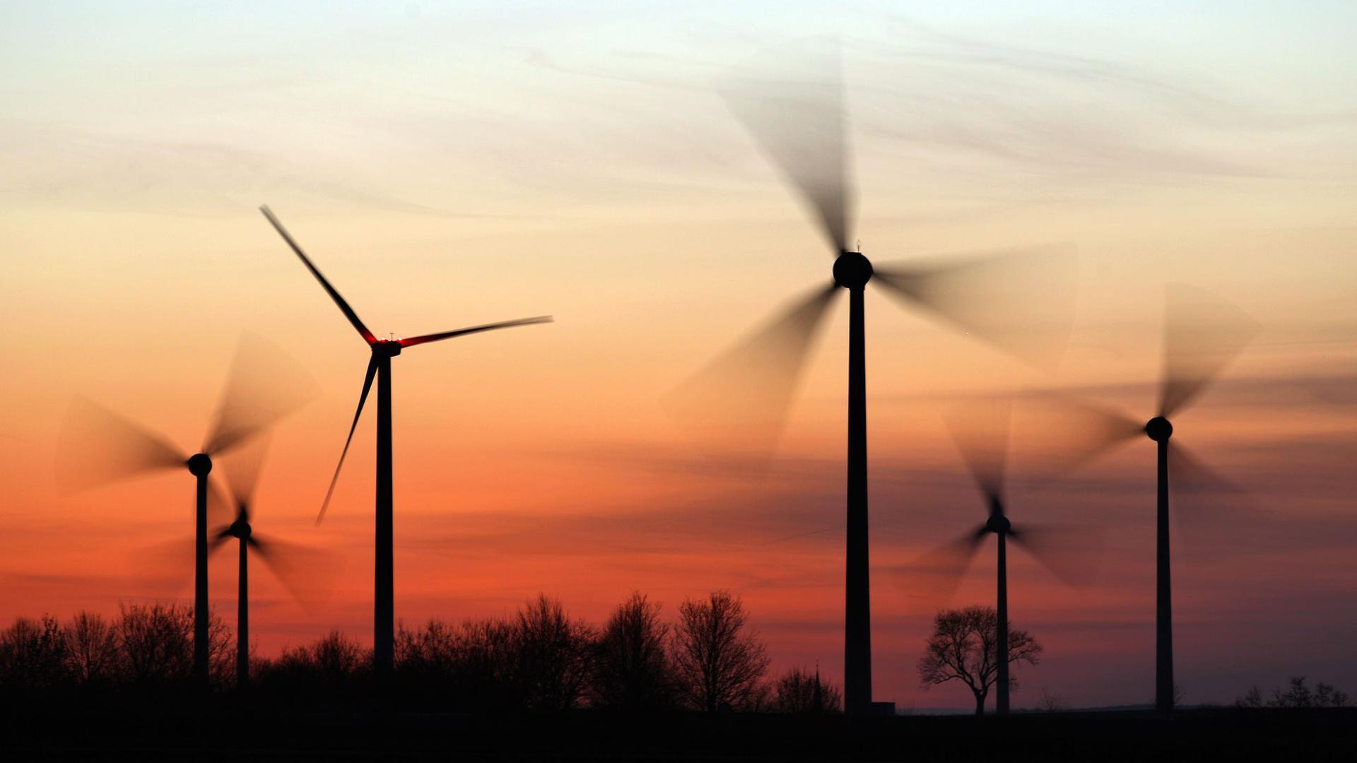 Windräder drehen sich in Sachsen-Anhalt.