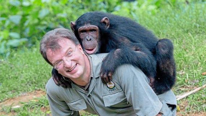 Reinschmidt und Schimpanse