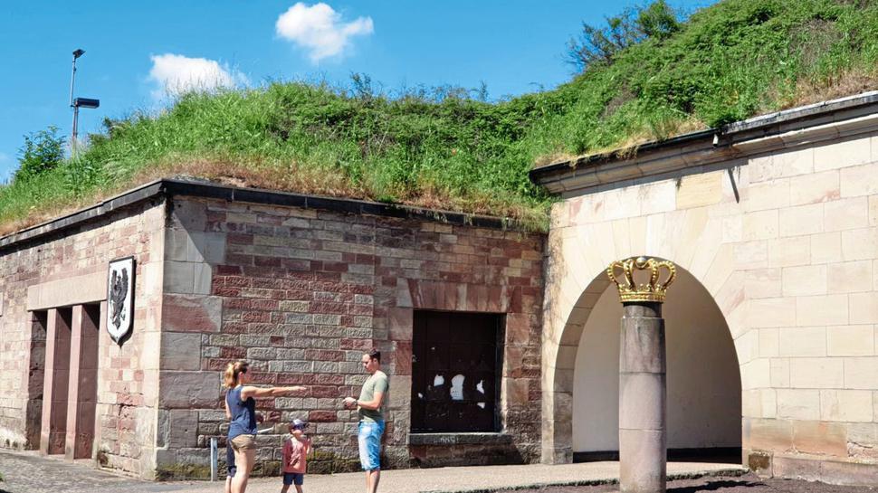 das deutsche Tor in Saarlouis im Saarland