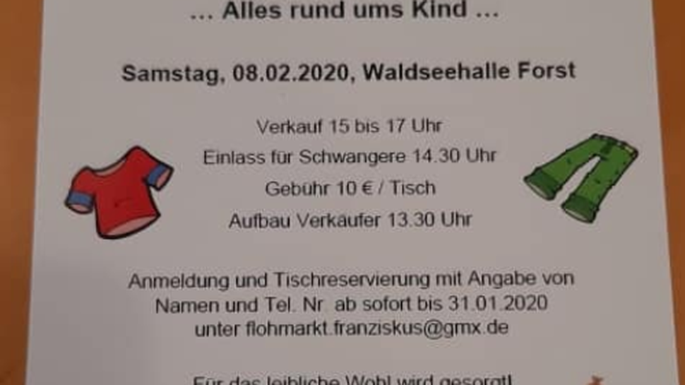 Der Kindergarten St. Franziskus in Bruchsal wird im Februar 2020 einen Kinder-Flohmarkt veranstalten.