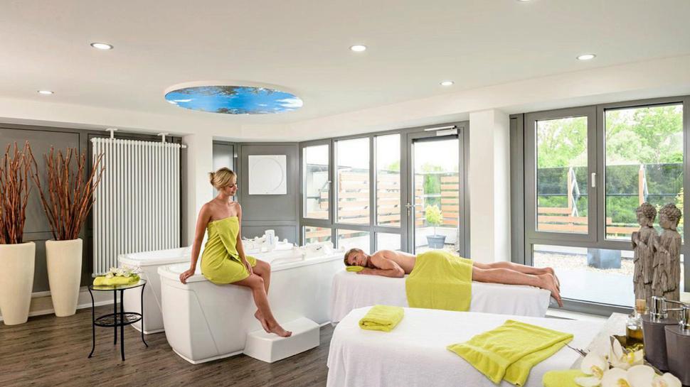 Ganz für sich kann unser diesmaliges Gewinner-Duo Zeit zu zweit in der Private-Spa-Suite des Thermariums in Bad Schönborn genießen.
