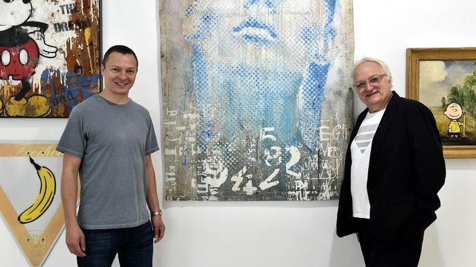 Christian Timm (links) hat Michael Oess auf den Geschmack von Streetart gebracht.