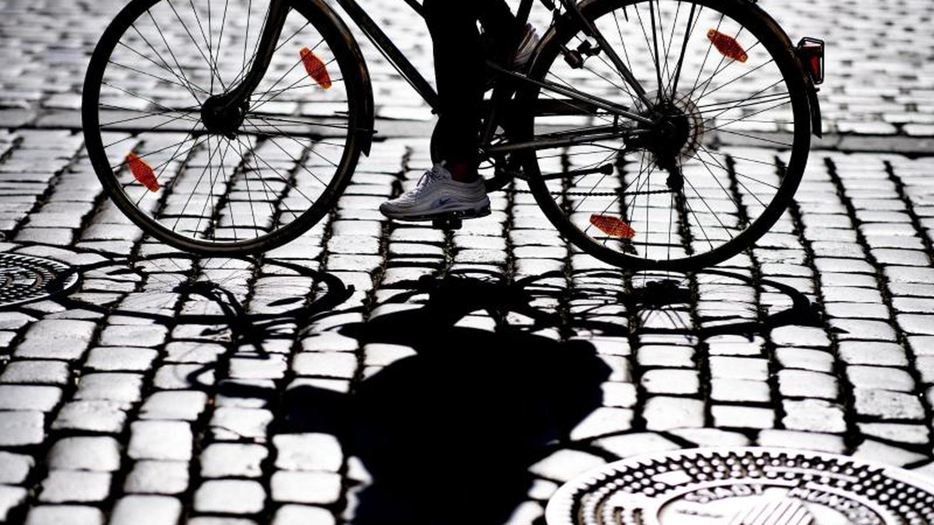 Radfahrerin in Münster