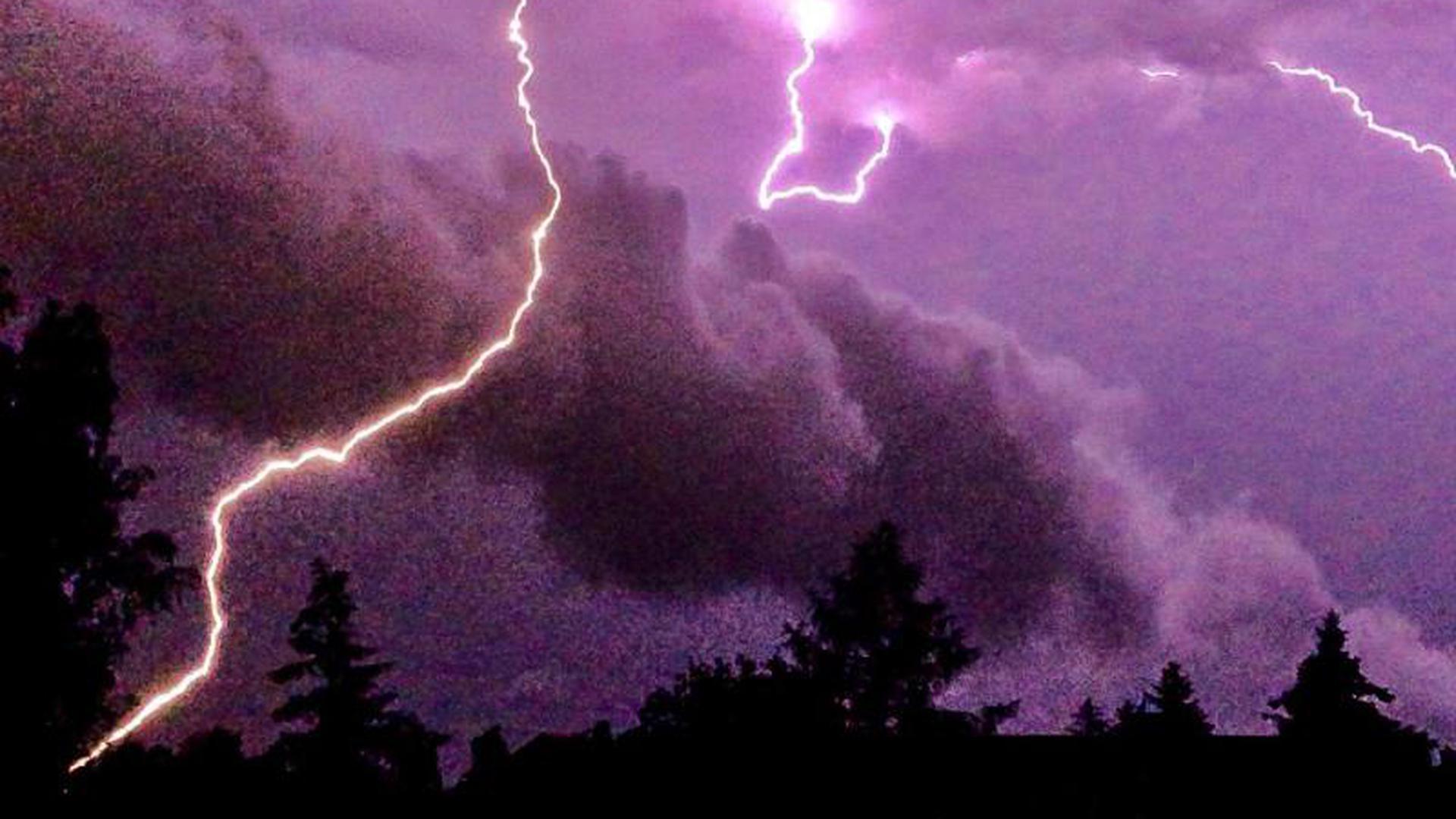 Unwetter über Brandenburg