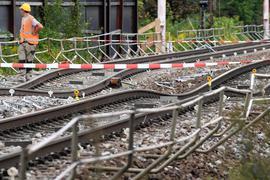 Baustelle der Rheintalbahn