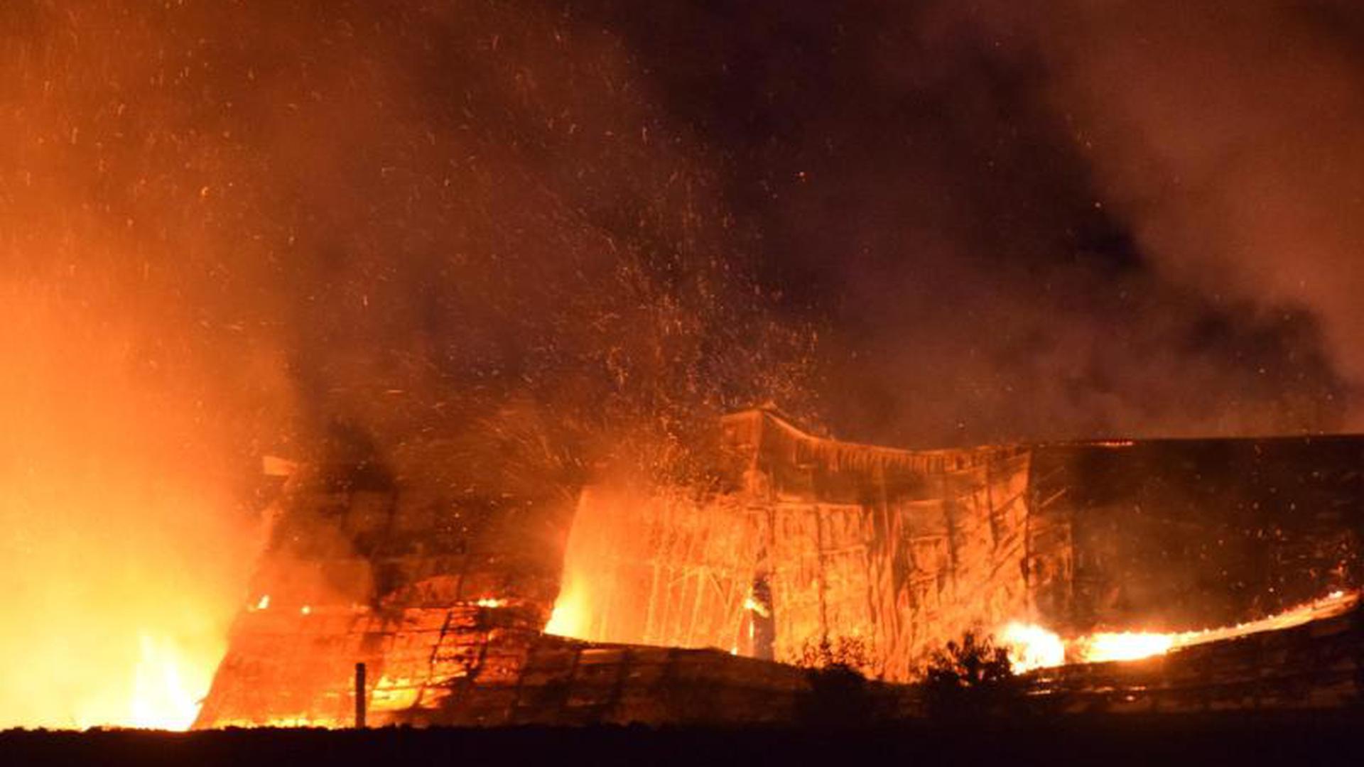 Großbrand auf Putenhof