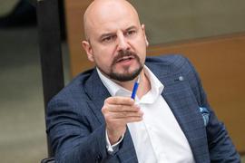 Stefan Räpple spricht im Landtag von Baden-Württemberg