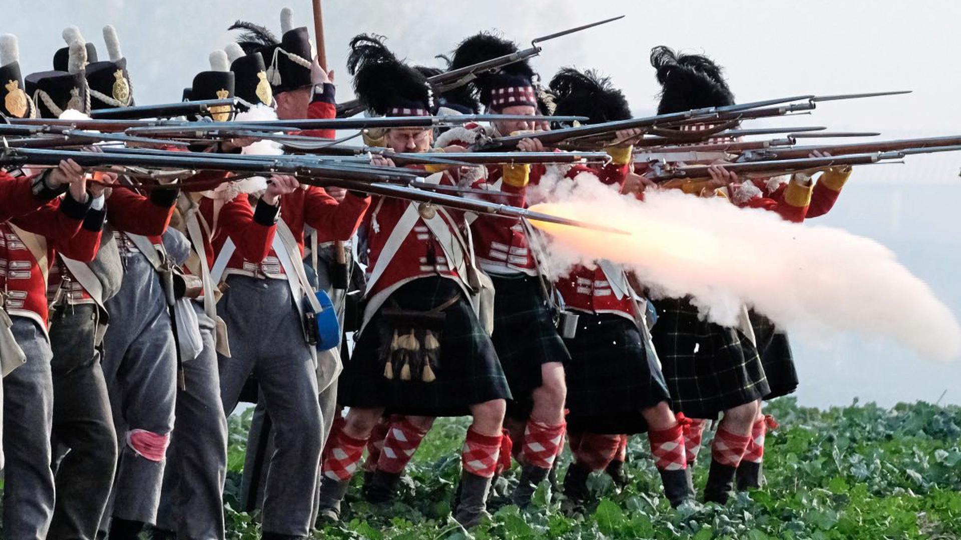 Tausende badische Soldaten folgten dem gesuchten Feldherrn, wie hier von Akteuren nachgestellt, in einen Krieg, der schmachvoll endete.