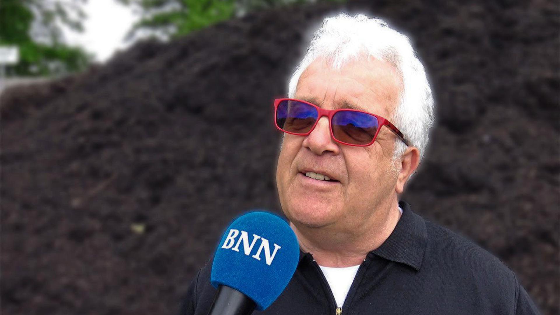 Franz Vogel ist stolz auf sein Unternehmen und seinen Kompost.