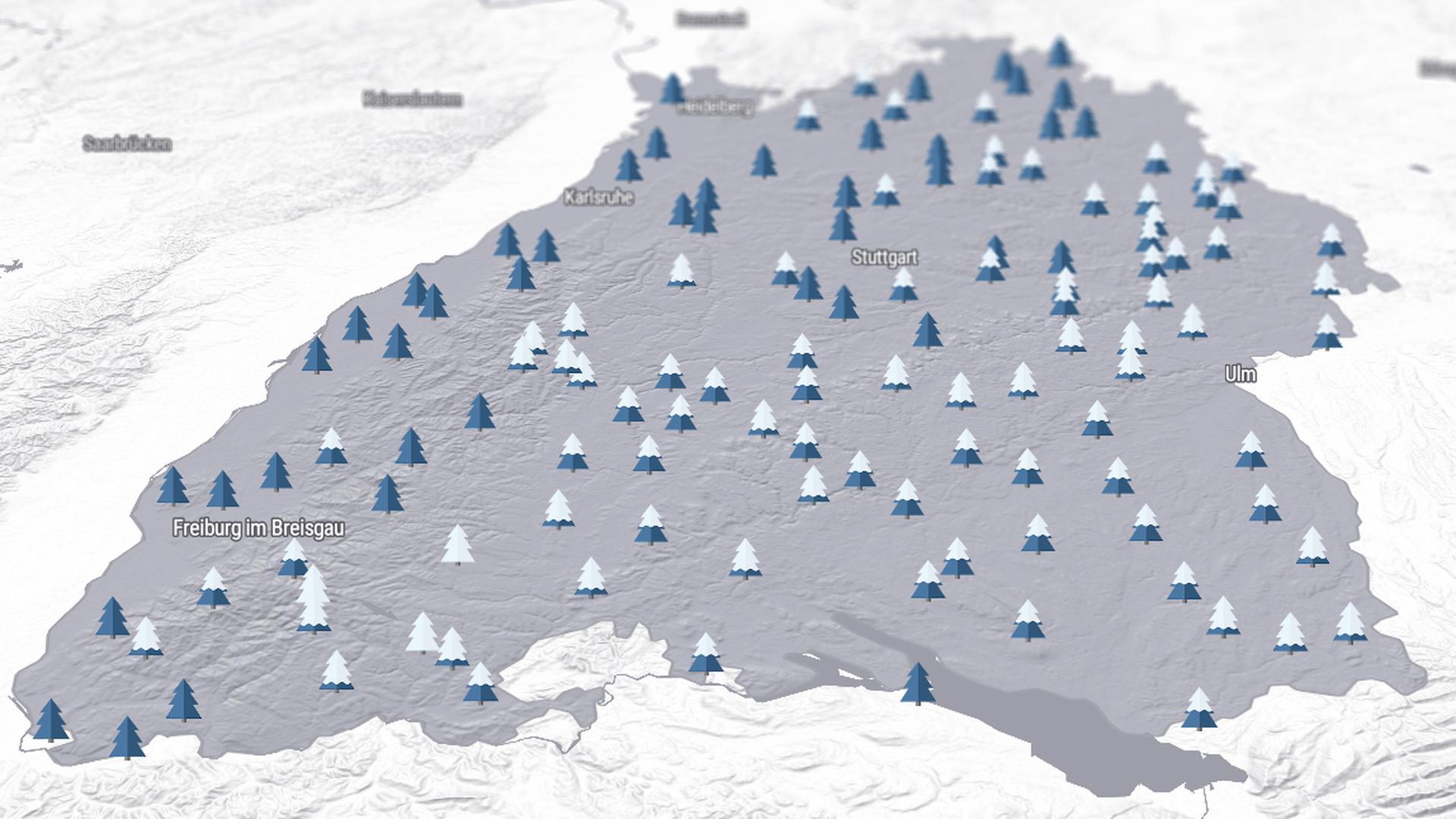 Schnee an Weihnachten in Baden-Württemberg ist die Ausnahme.