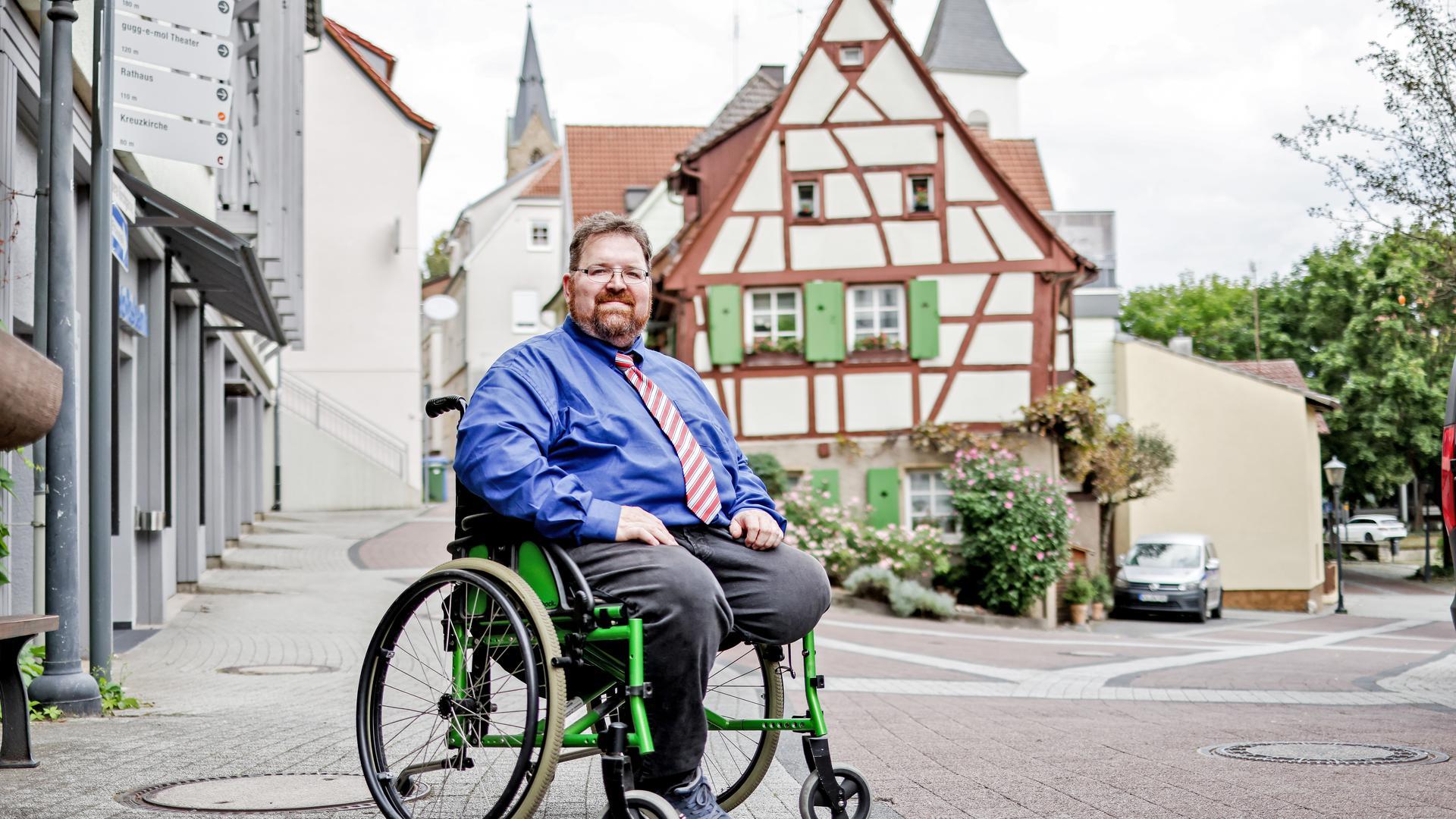 AfD-Kandidat René Rotzinger aus Bretten.