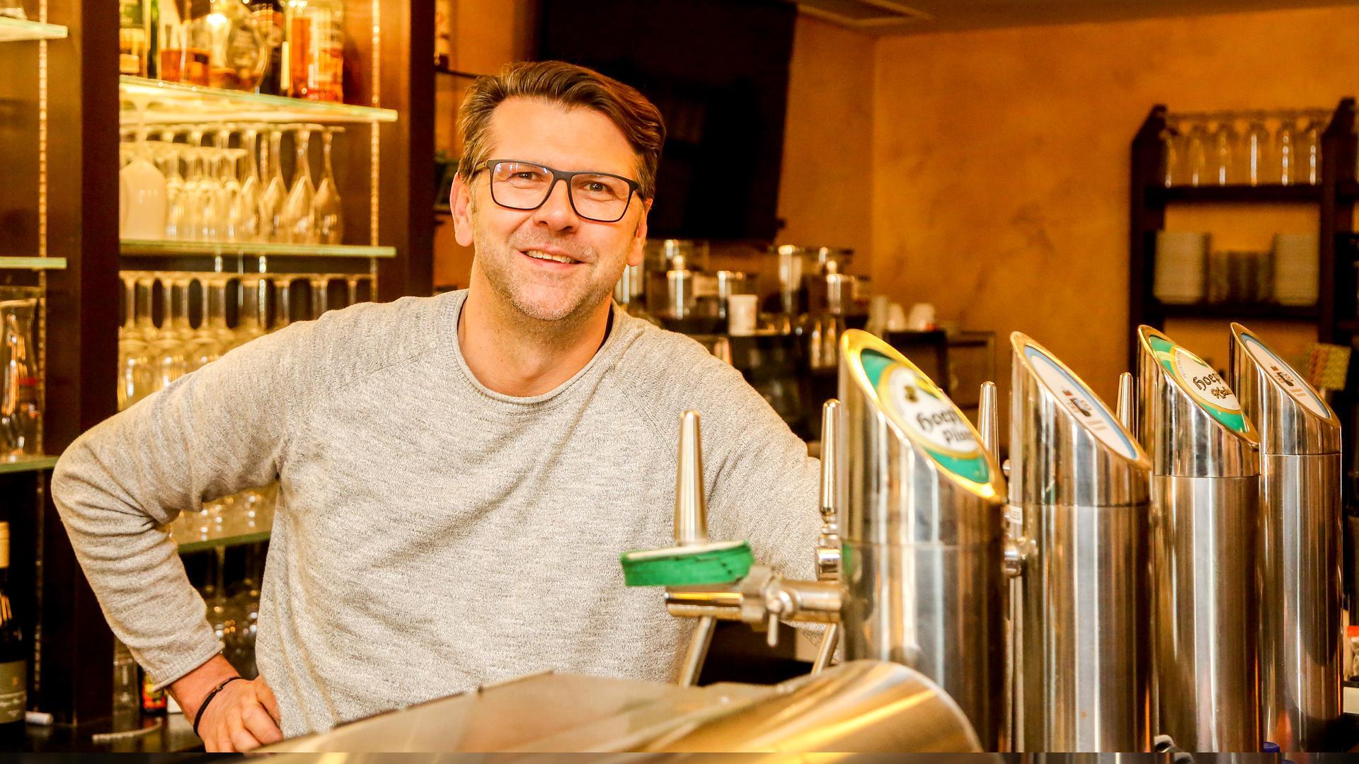 """Ingo Jäger, Inhaber des Restaurants """"Altes Rathaus"""" in Bretten"""
