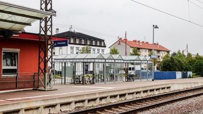 Fahrradabstellplatz beim Bahnhof