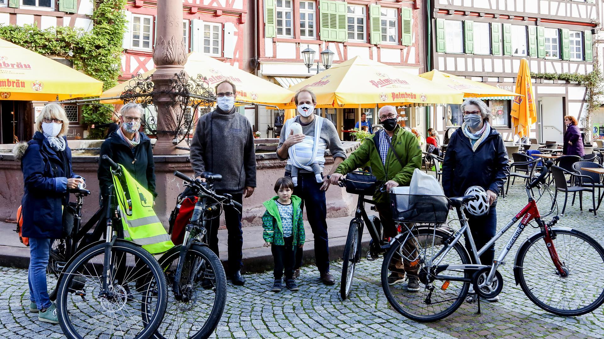 Initiatorin der Brettener ADFC-Ortsgruppe ist Jutta Biehl-Herzfeld (rechts). Derzeit besteht die Radlergruppe aus sechs Mitgliedern.