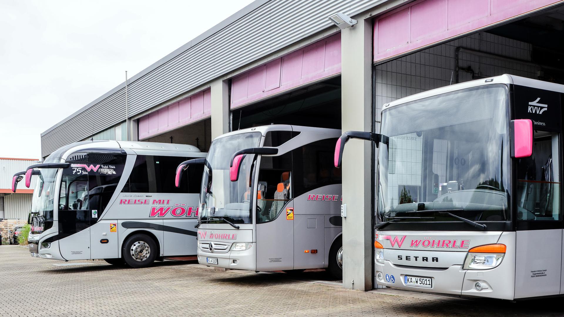 Die Flotte des Busreise-Unternehmens Wöhrle.