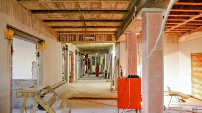 Die Sanierung des Bronnersbaus am MGB schreitet weiter voran.