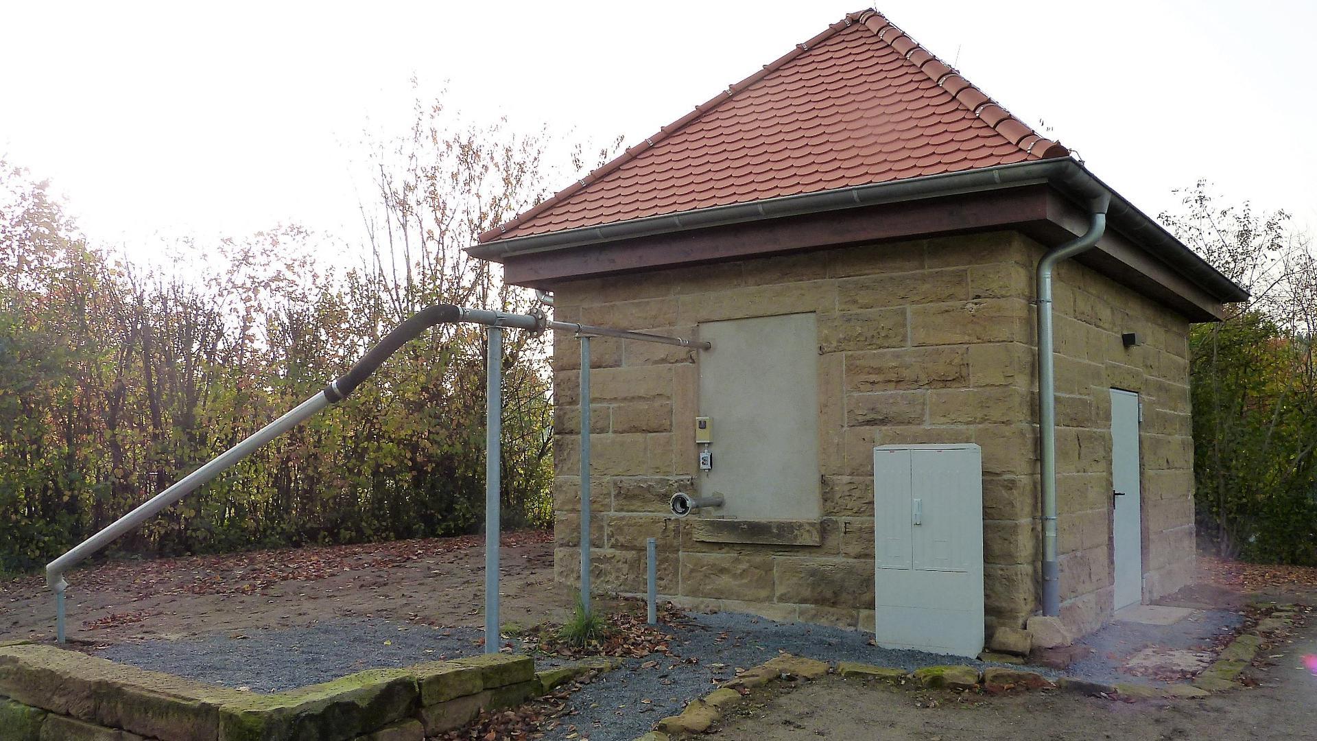 Die Wasserentnahmestelle in Oberderdingen.