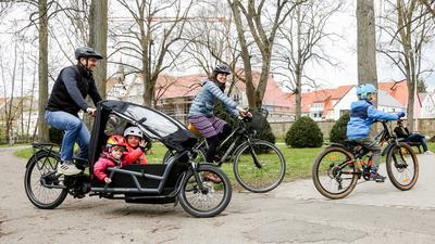 Familie mit Rädern
