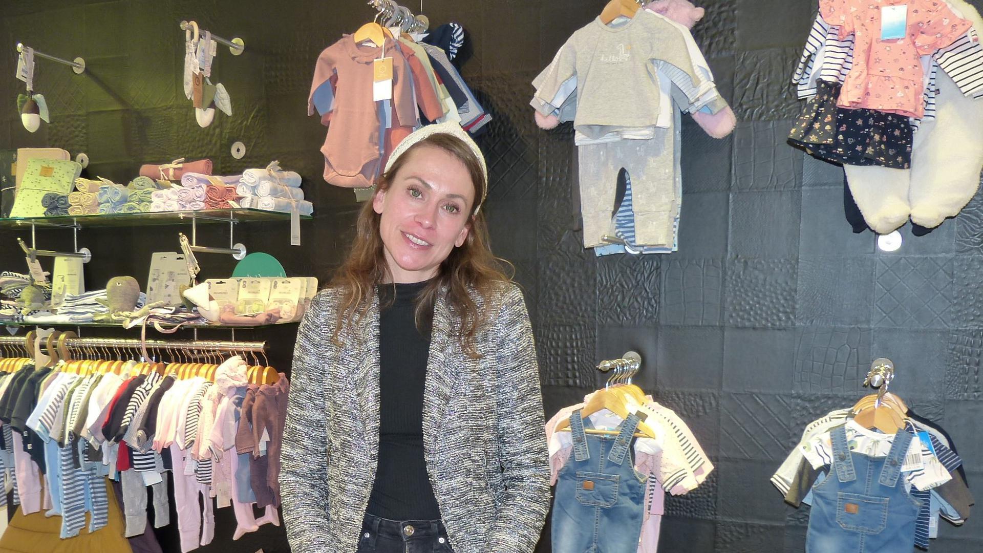 """Friederike Schüller trotzt der Corona-Krise und eröffnete im März mit """"Frieda's"""" Kinderkleidergeschäft in Bretten."""
