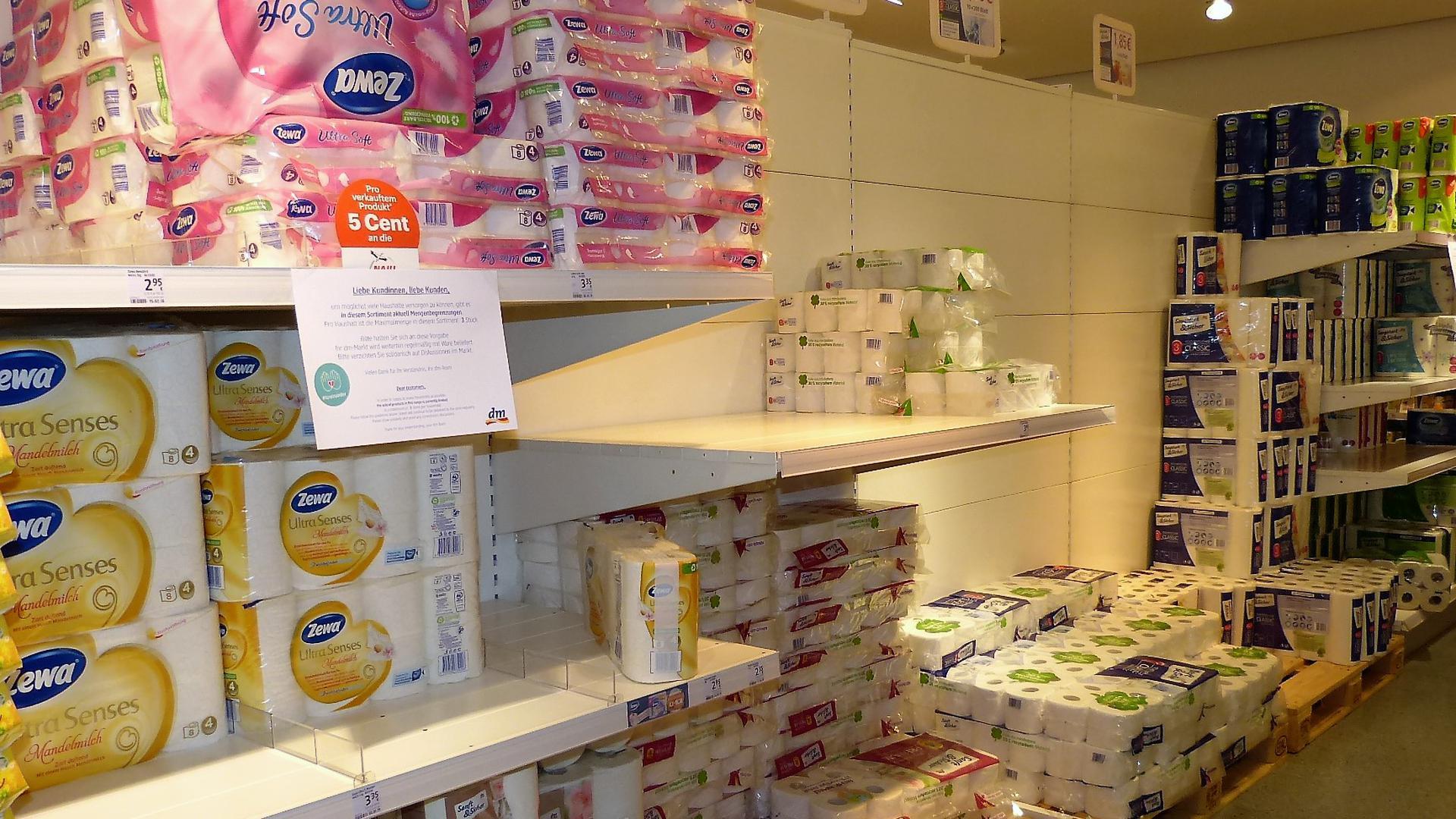 Toilettenpapier ist in Brettener Läden ausreichend vorhanden.