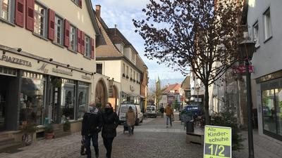 Die Brettener Fußgängerzone in der Melanchthonstraße.