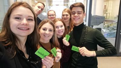 Brettener Jugendgemeinderäte zu Besuch im deutschen Bundestag in Berlin.
