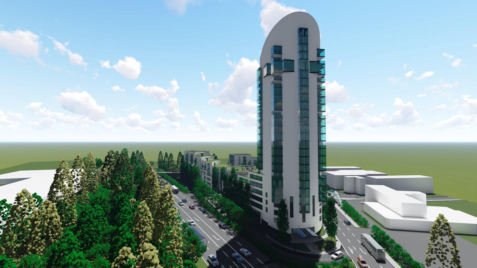 Gebäudekomplex mit Turm