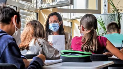 Lernbrücken am MGB mit Lehrerin Vanessa Stulier.