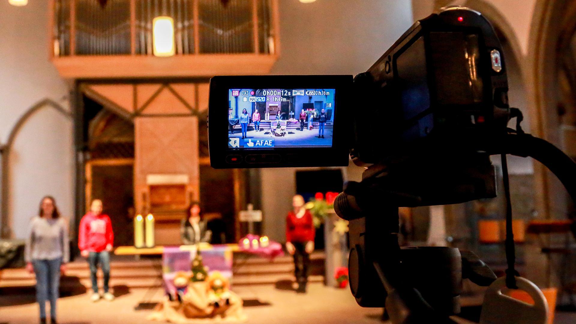 Videoaufzeichnung eines Gottesdienstes