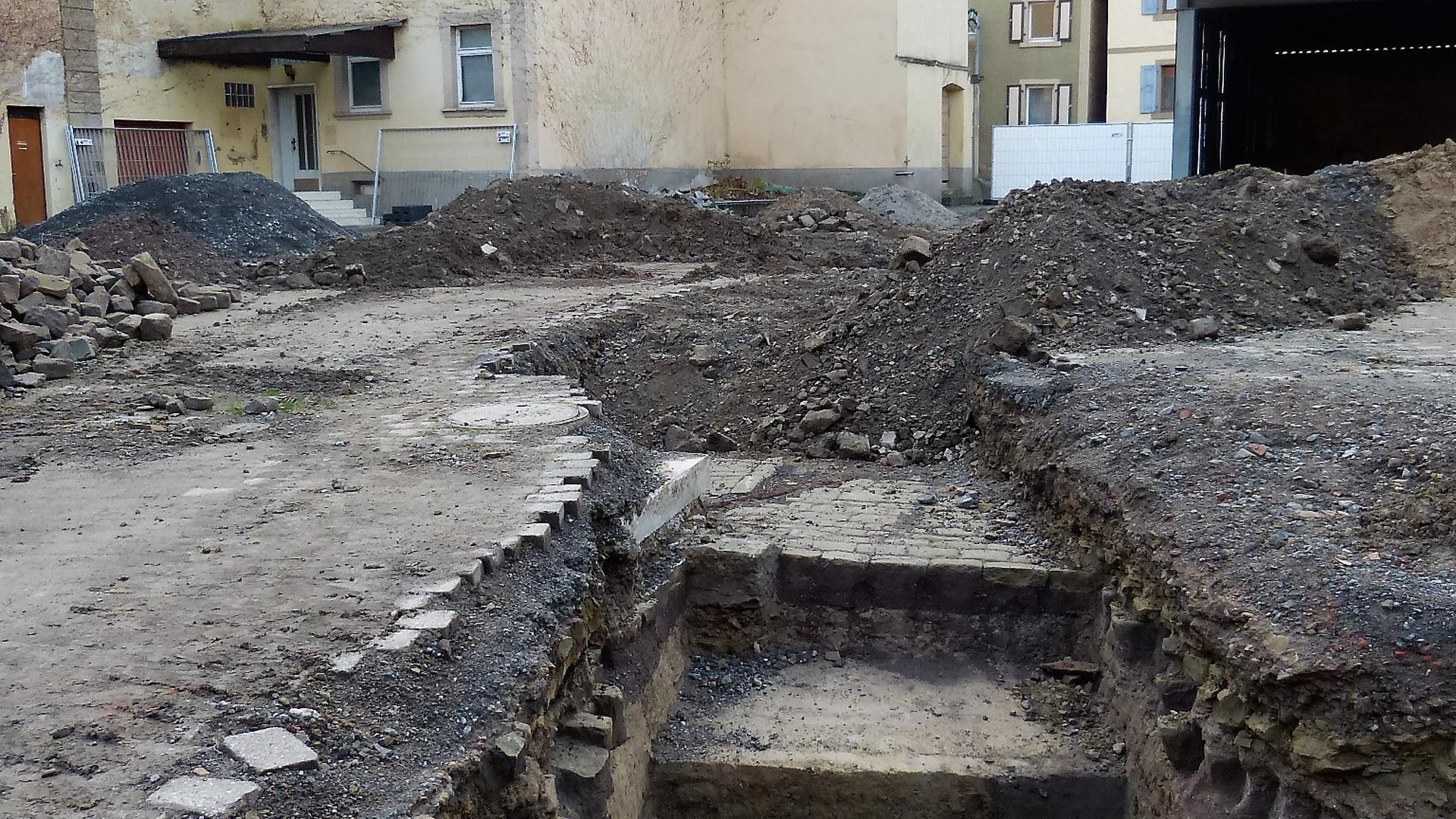 Ausgrabungen finden im Rentamt in Sulzfeld statt.