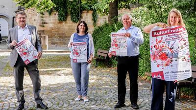Vorstellung des Programms der Open-Air-Reihe KulturFreitag auf dem Alfred-Leicht-Platz.