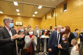 Familie Kozel freut sich über den Sieg bei der Bürgermeisterwahl in Knittlingen