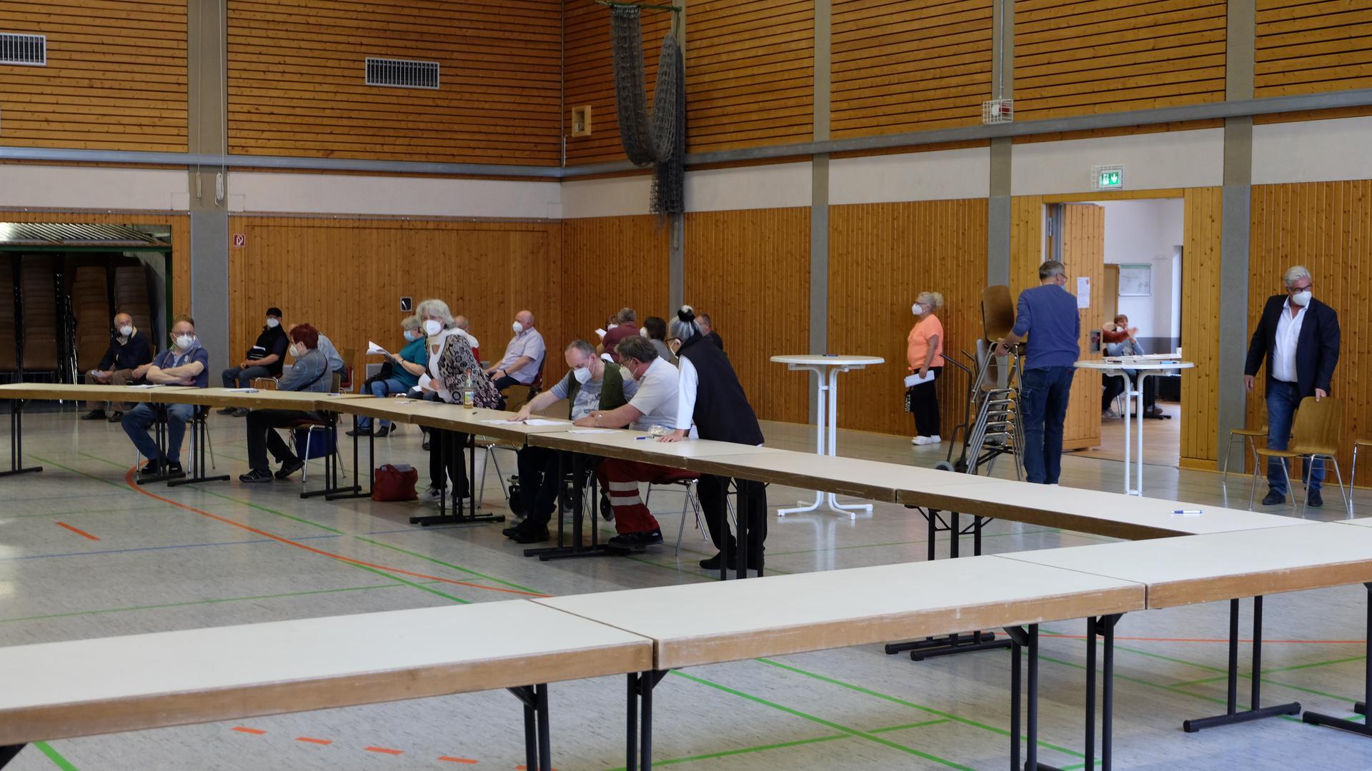 Impfeinsatz in der Gondelsheimer Saalbachhalle
