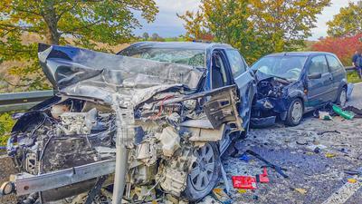 Unfall B293 Oberderdingen