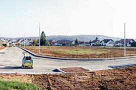 Baugebiet im Bau