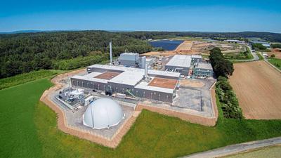 Hier entsteht Energie aus organischem Abfall: Auch zur Biogasanlage in Sinsheim kommt ab 2021 der Stoff in den neuen Biotonnen im Kreis Karlsruhe. Dessen Einwohner können aber auch im Garten kompostieren oder Bioabfall selbst wegbringen.