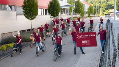 Mächtig reingetreten: Die Stadtradler vom Team Firma Wolf aus Knittlingen waren den Erstplatzierten stets dicht auf den Fersen, wurden letztlich aber Zweite.