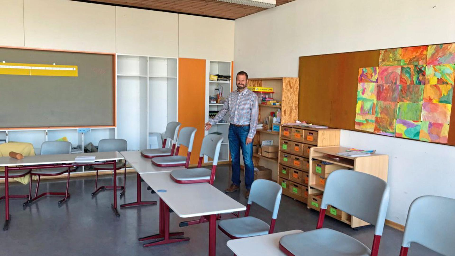 Mängel in Klassenzimmern meldeten Eltern der Strombergschule Oberderdingen den BNN. Schulleiter Josef Roth beschwichtigt.
