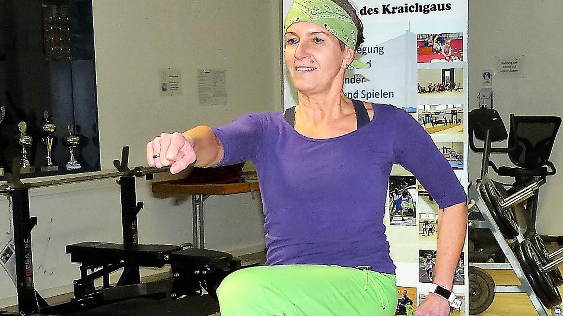 Anke Kraus freut sich bereits auf ihr Ganzkörpertraining am 30. Dezember.