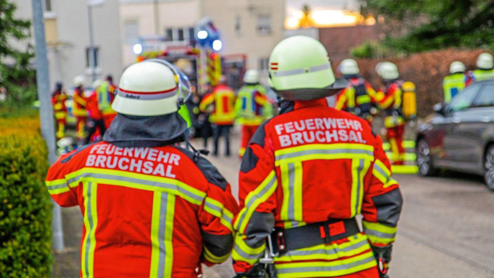 Nach einer Explosion hat es in einem Wintergarten in Bruchsal gebrannt.