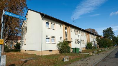 Die alte Siemenssiedlung: Die alten Arbeiterhäuser in der Hockenheimer Straße sind in die Jahre gekommen. Nun soll das Quartier untersucht werden.