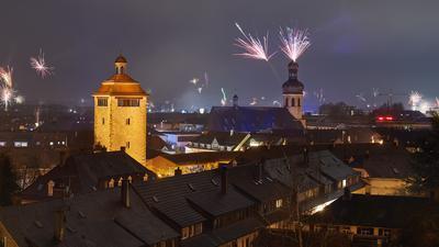 Silvesterfeuerwerk Bruchsal