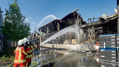 Großbrand Holzindustrie
