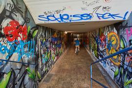 Fußgängerunterführung beim Schlossgarten mit Graffiti