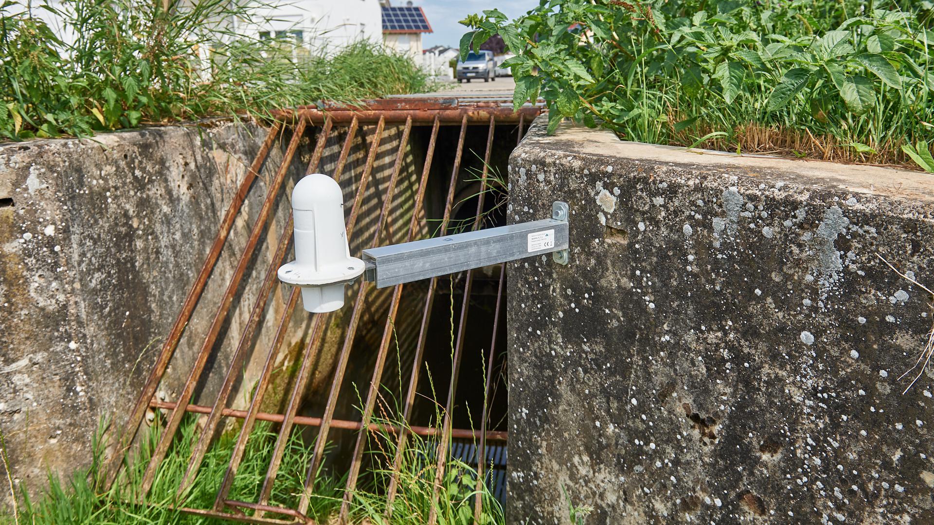 Hochwasserschutz Messanlage Rohrgraben