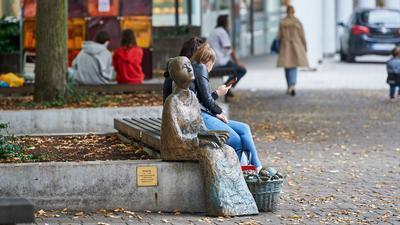 Skulptur von Babette Ihle in Bruchsal auf dem Babette-Ihle-Platz