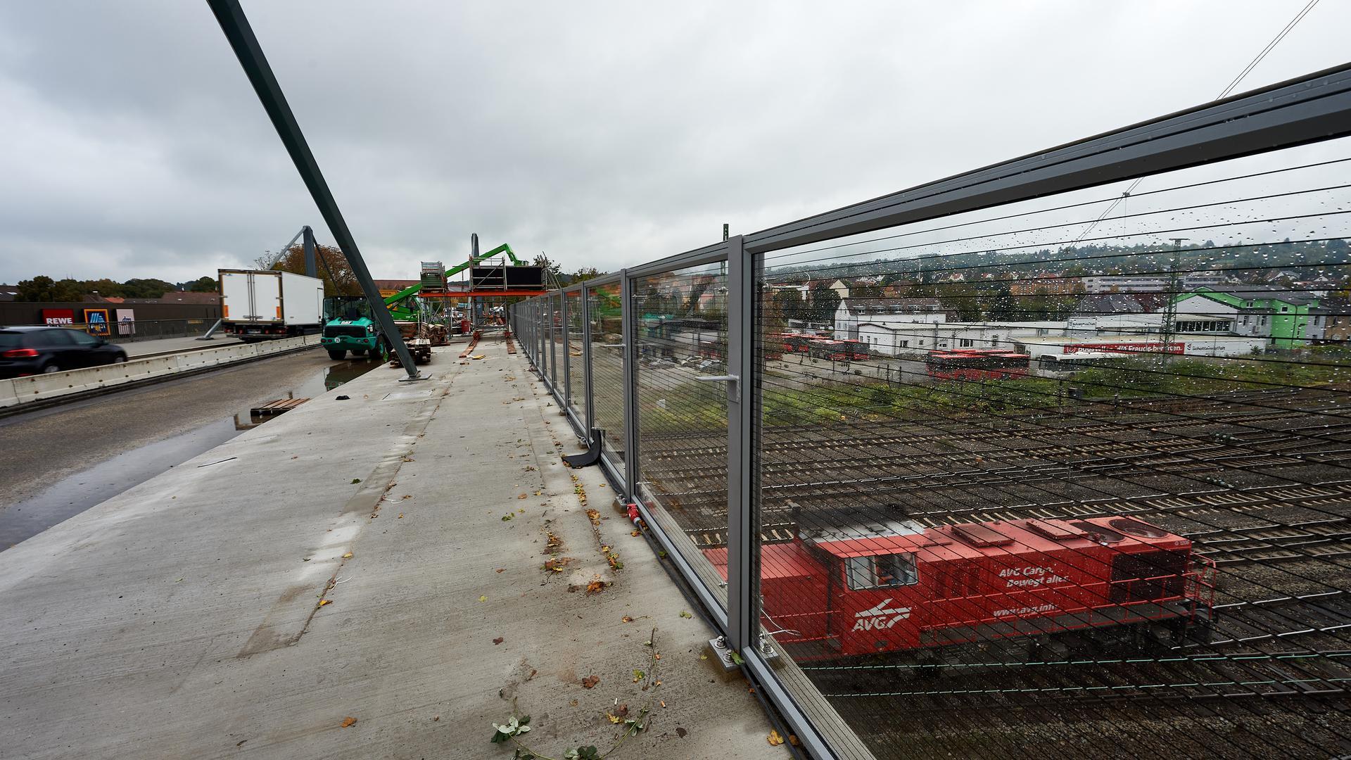 Büchenauer Brücke Baustelle