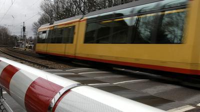 Gondelsheim Stadtbahn Schranke