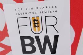 AfD auf SPD: Diese Aufkleber sind auf Plakaten der SPD-Landtagskandidatin Alexandra Nohl in Helmsheim aufgetaucht. Die Polizei wird nicht ermitteln.