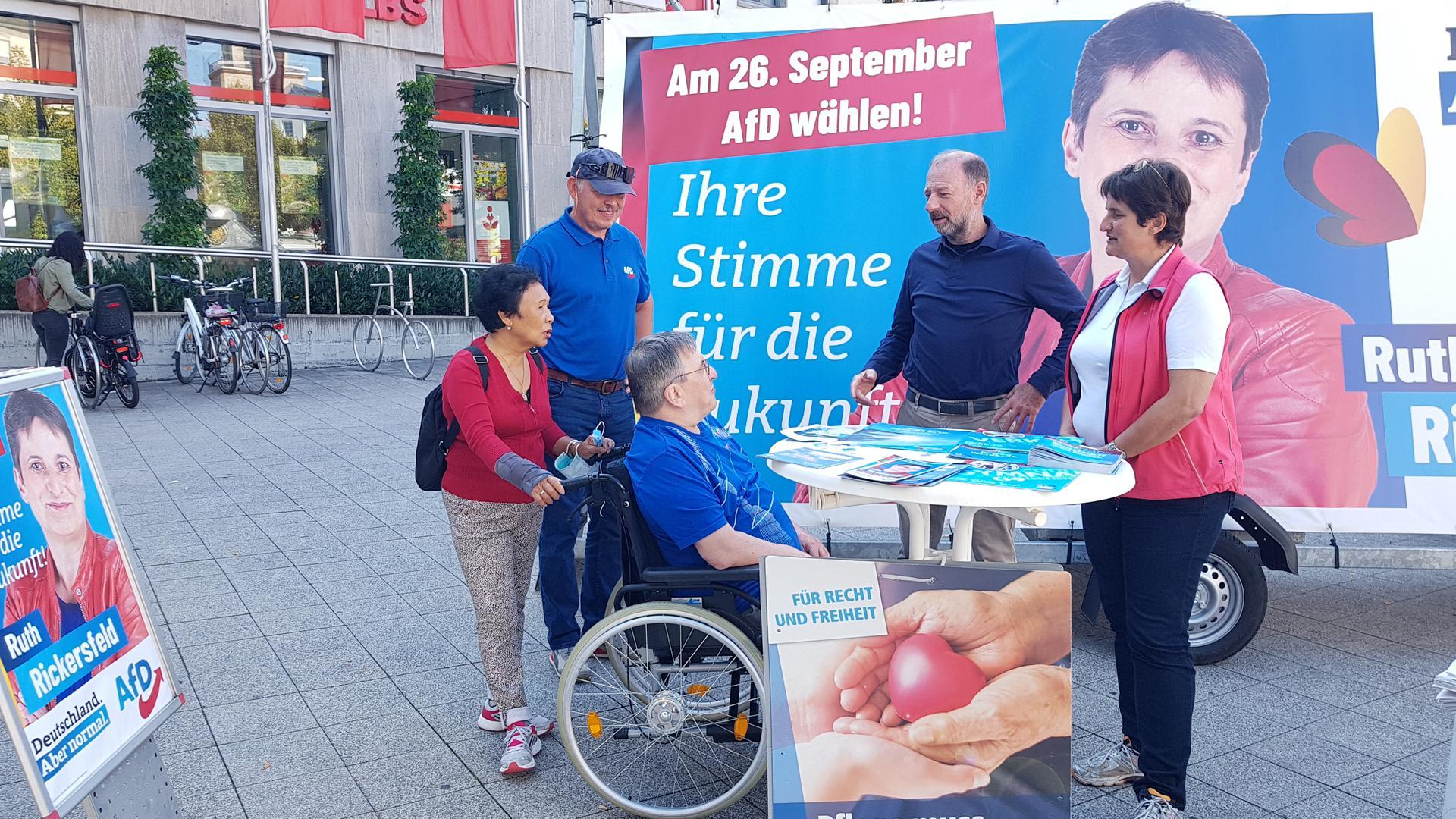 AfD-Wahlkampf in Bruchsal